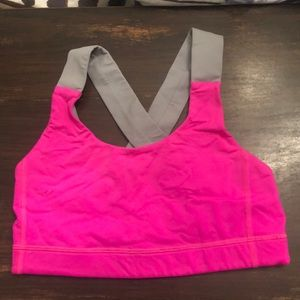 Lululemon all sports bra size 6 hot pink